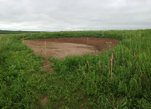 This half-circle scrape is the footprint of the future Wingspan site. More to come soon! MAS Photo