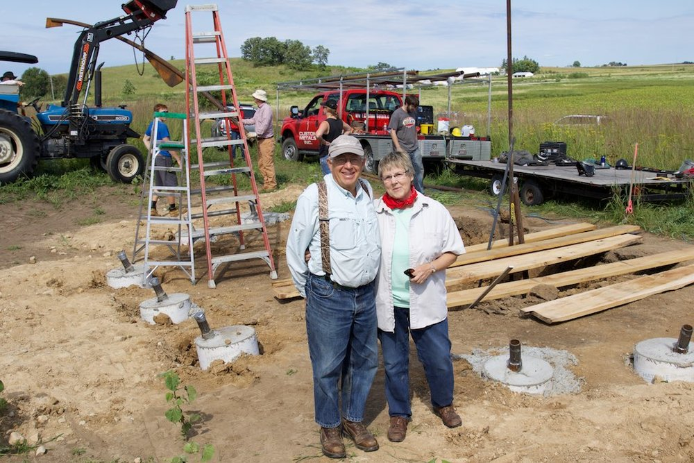 Mark Martin and Susan Foote-Martin, for whom the pavalion is dedicated.