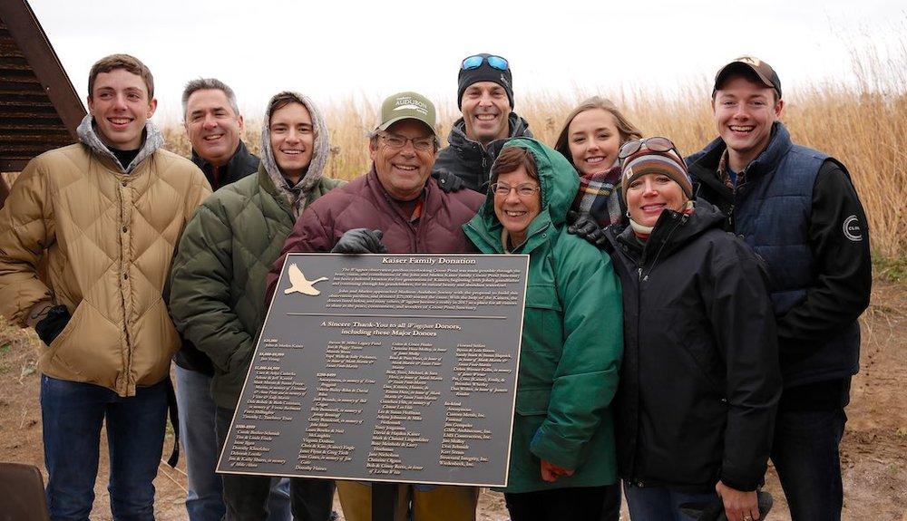 The Kaiser family celebrates their legacy at Goose Pond Sanctuary.