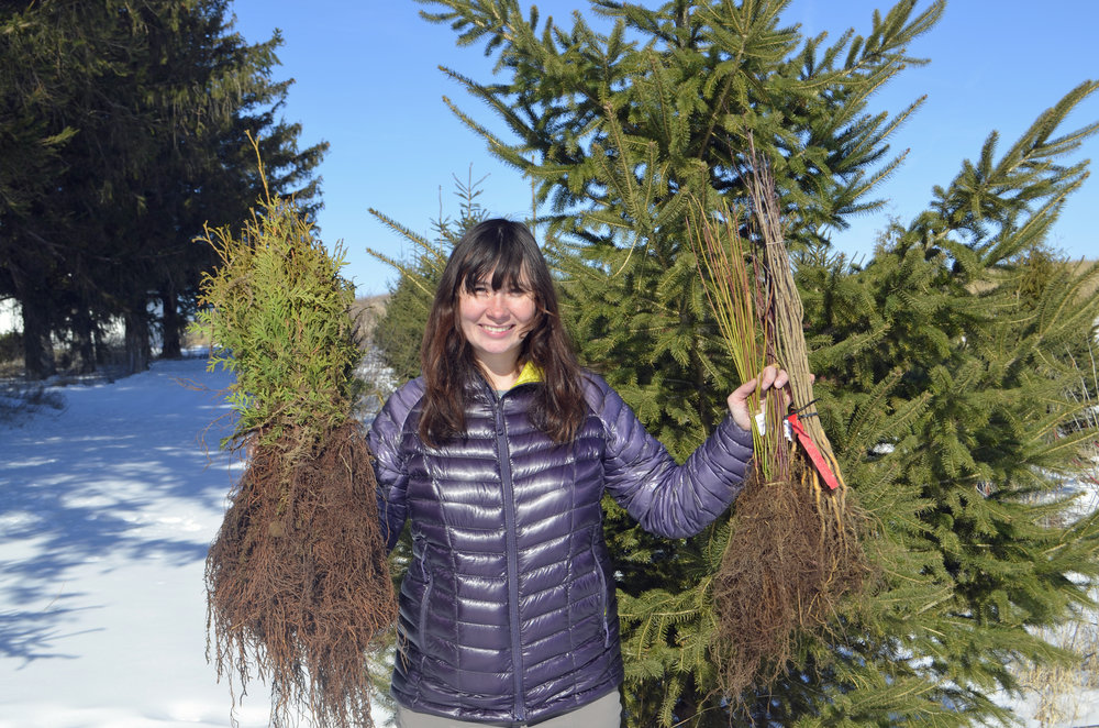Jacqueline Komada, Goose Pond intern this summer, is looking forward to planting trees and shrubs. Photo by Mark Martin