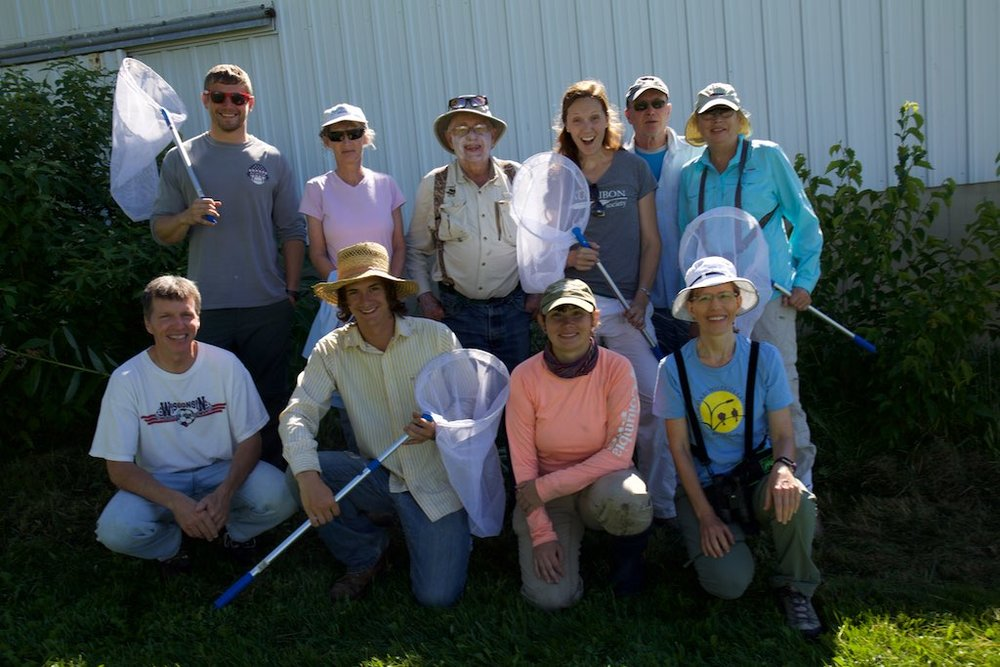 The butterfly counting crew. Photo by Arlene Koziol