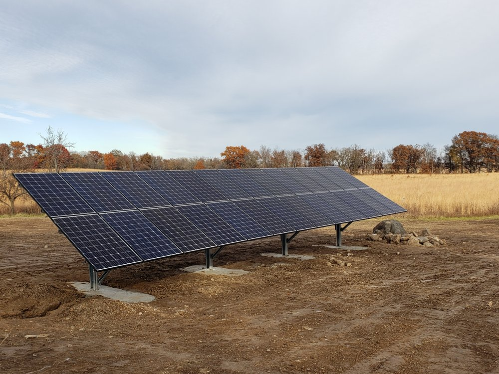 Installation of all 26 solar panels was complete as of October 31, 2018! Photo by David Musolf