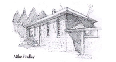 Eglingham Village Hall Sketch by Mike Findlay