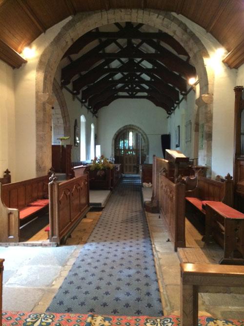 St Maurice's Eglingham, inside