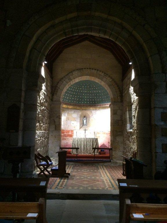 Old Bewick Church, inside