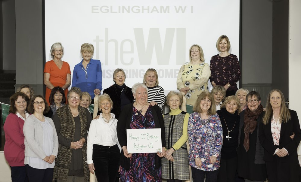 Eglingham WI celebrating their Centenary in March 2018
