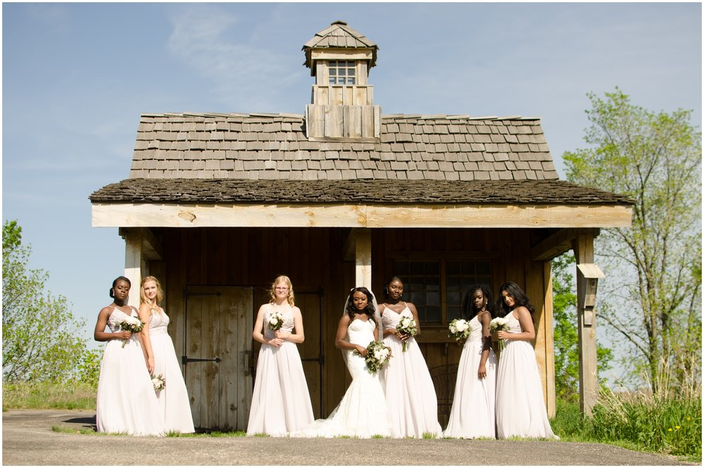 bride and her bridesmaids at The Outpost Center