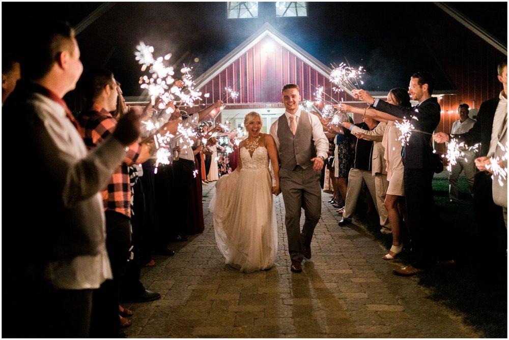 sparklers wedding send off
