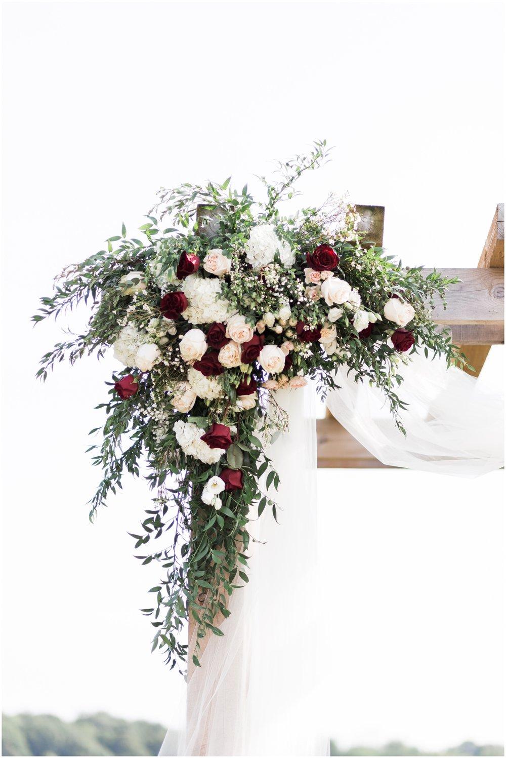 wedding arch floral details