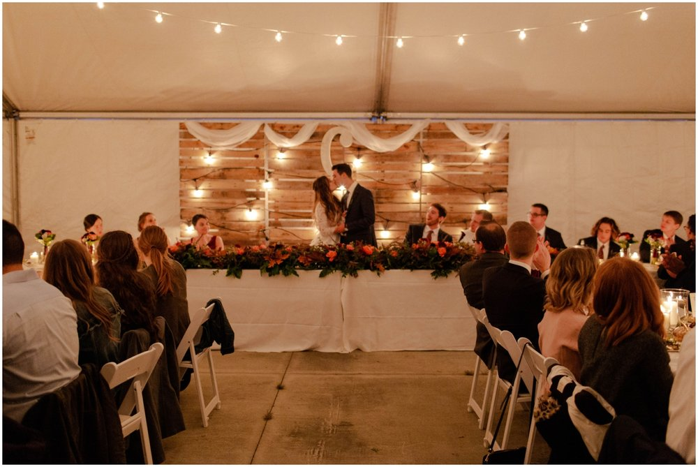 wedding reception at the outpost center