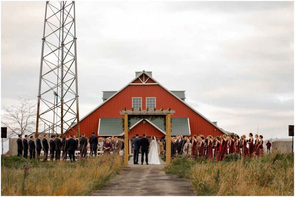 Barn style wedding ceremony