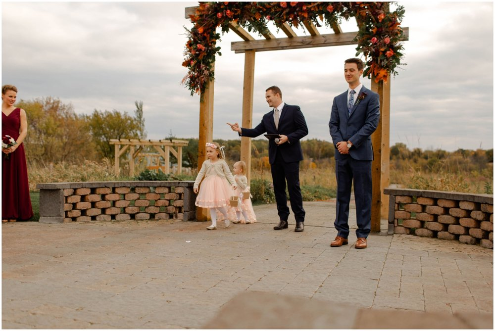 MN Outdoor wedding ceremony