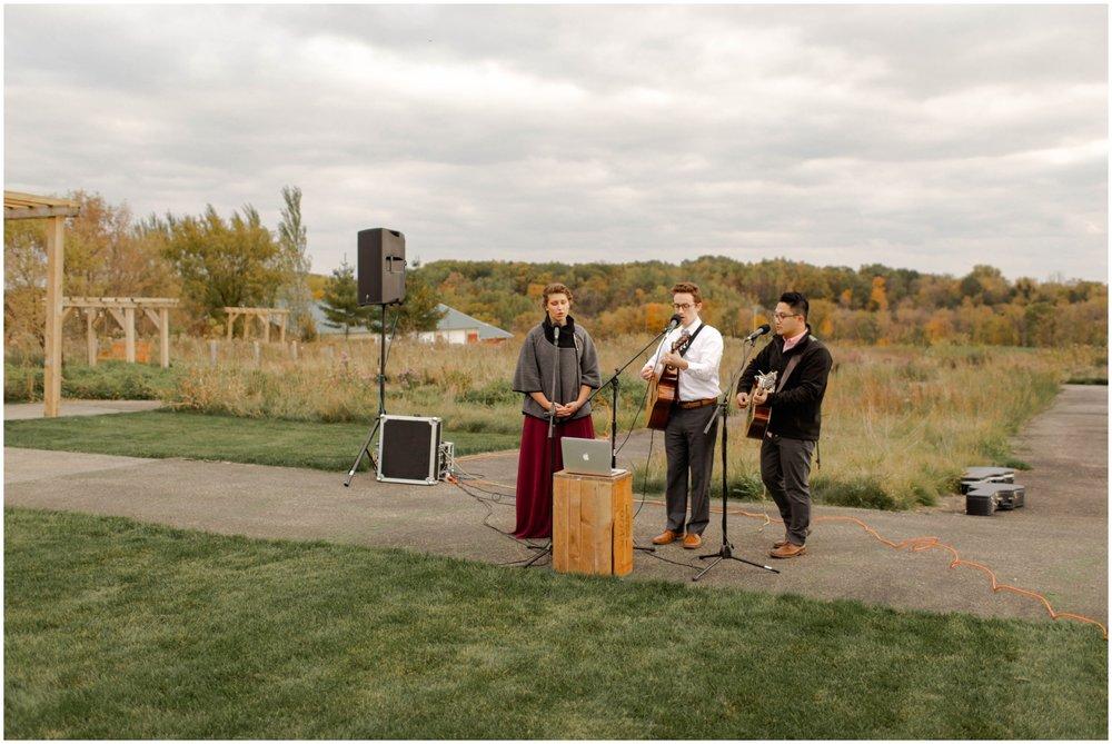 outdoor wedding ceremony entertainment
