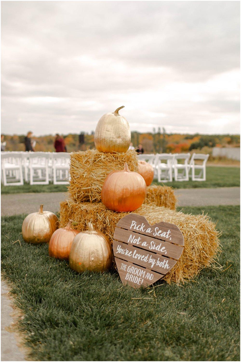 wedding ceremony decor Fall