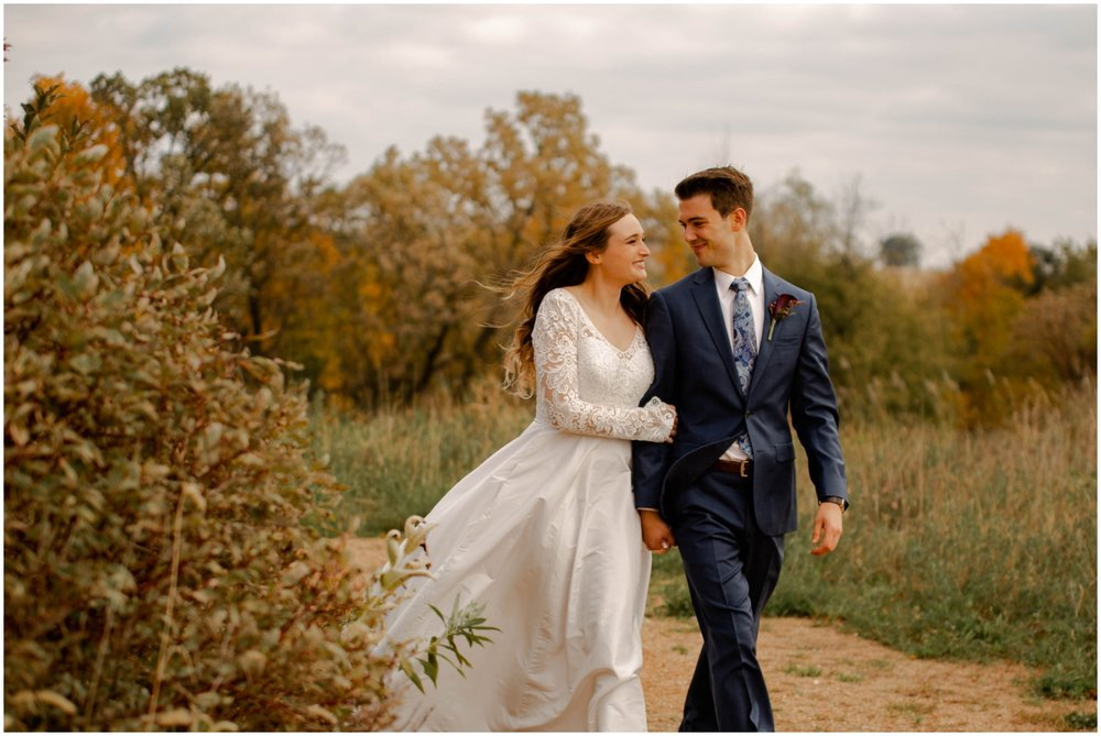 Fall wedding in MN