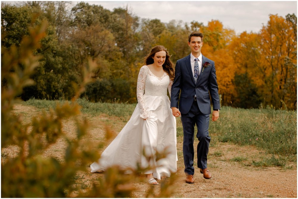 Bride and groom in Minnesota