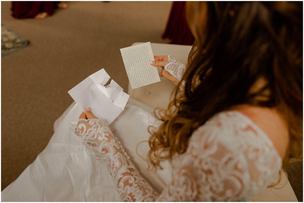 bride before her Minnesota wedding