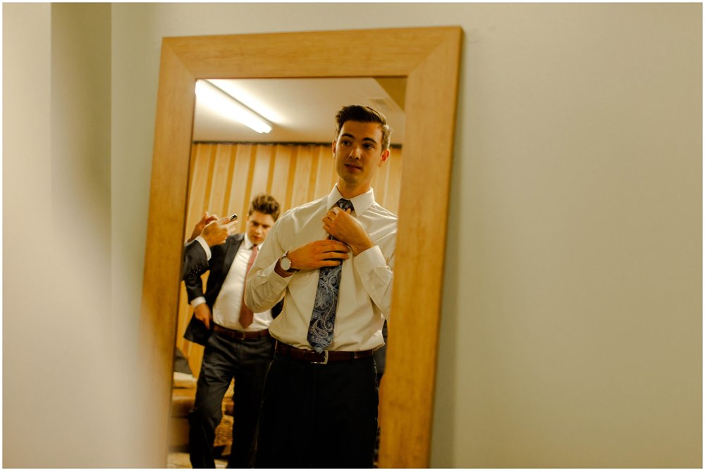 groom getting ready for his MN wedding