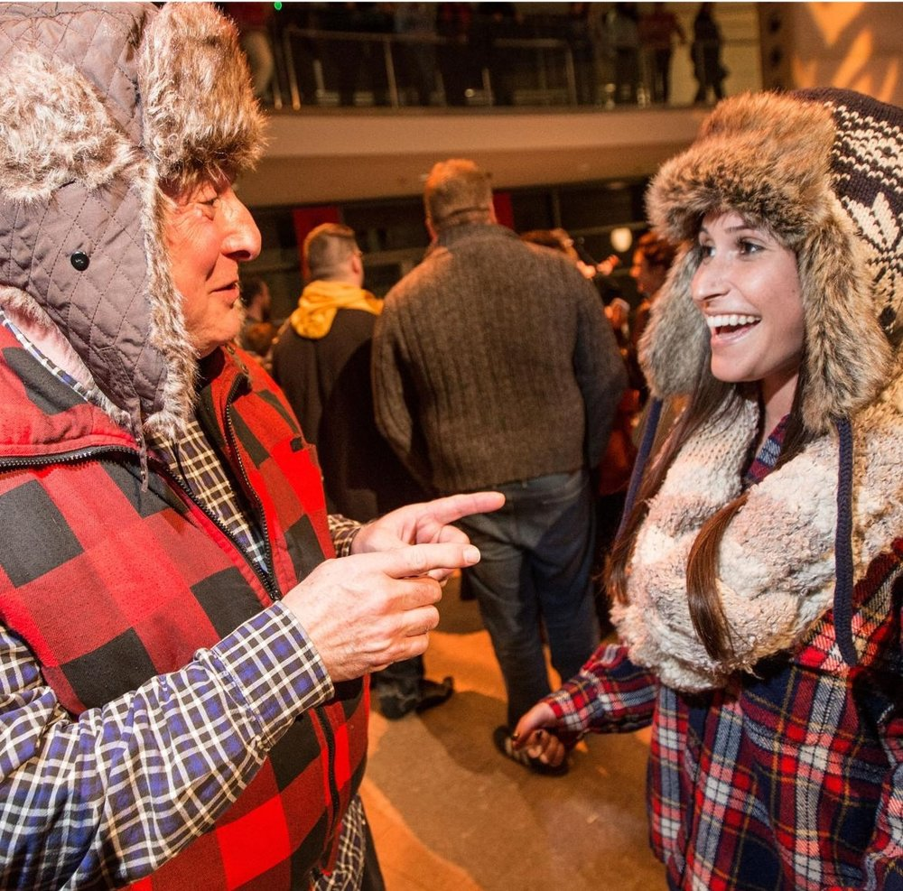 """Peabody Essex Museum's 'I'm a Lumberjack' Party ,  Boston Globe 's  The Eye ,  February 25, 2015  Celebrating two woodworking-themed exhibitions ( The Art of Wood  and  In Plain Sight ), the event brought out 700 guests to go against the grain and carve out a new identity. Globe correspondent Jill Radksen called the evening ""hipster central.""   Photo gallery here."