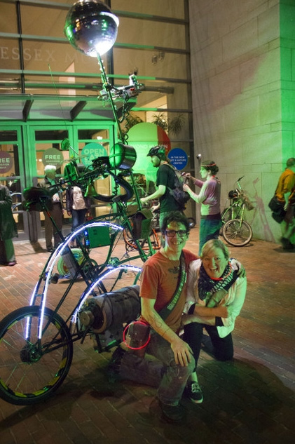 """SCUL at the Peabody Essex Museum in Salem,""   Skunkadelia ,  September 26, 2014  Artist and cycle advocate ""Skunk"" posted this after-action report of ""bike gang"" SCUL's participation in  PEM/PM's Bring Your Own Bike Night ."