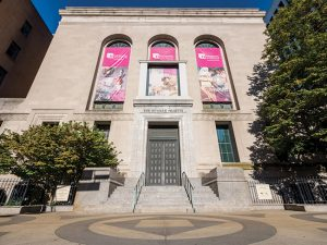 The historic front entrance of the Newark Museum, soon to be reopened. Image Source; NJ Business Magazine