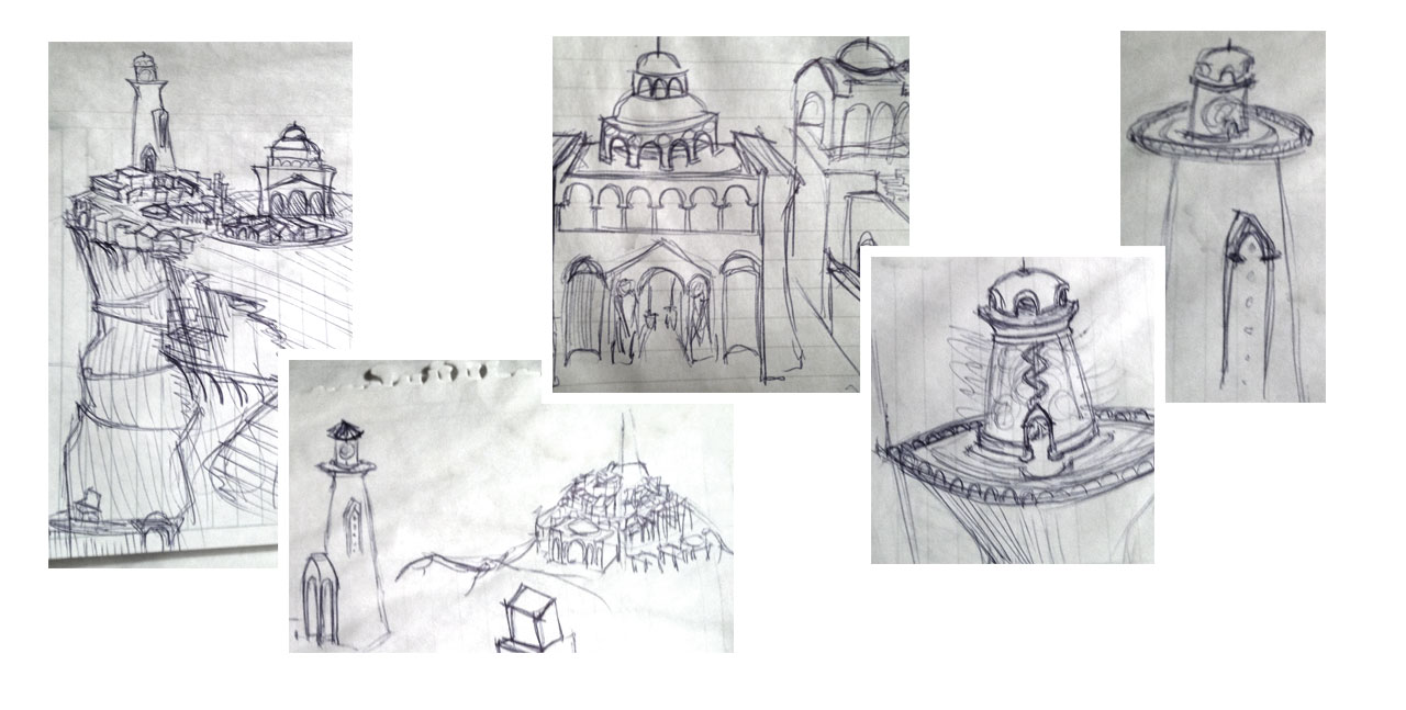 Napkin Sketches.  The City of Tal'El.