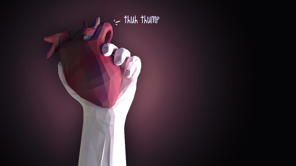 Arrhythmia    thuh thump. thuh thump.   thuh.   thump.   thuh thump.     (style inspired by @geoaday)