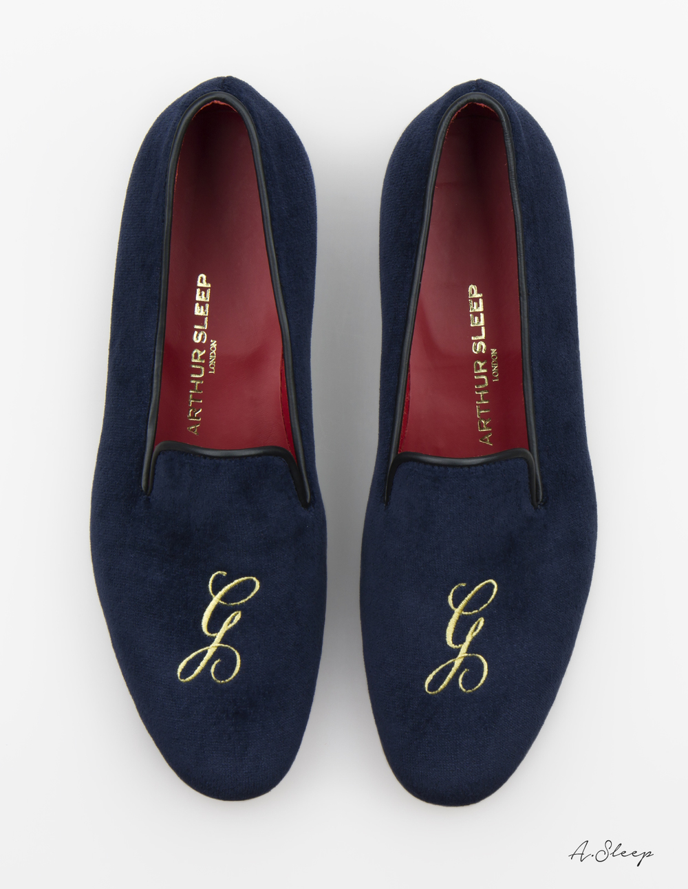 Arthur Sleep monogrammed slippers | Laughing Heart
