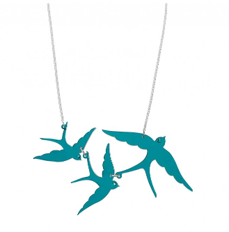 Triple Swallow Necklace | Tatty Devine