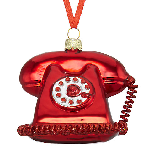 Glass Telephone Bauble | John Lewis