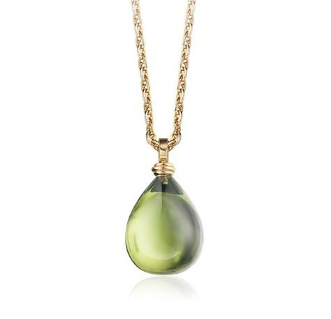 Green Amber Pendant | Lilly Hastedt