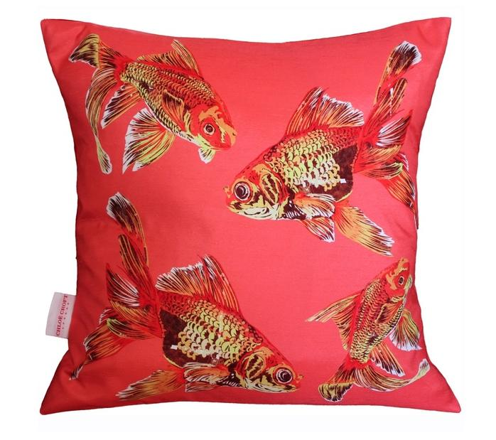 Goldfish Gaggle Cushion