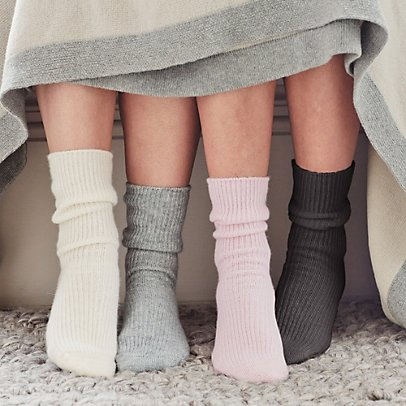 White Company cashmere bed socks