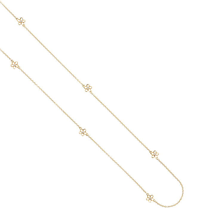 Gold Buttercup Necklace