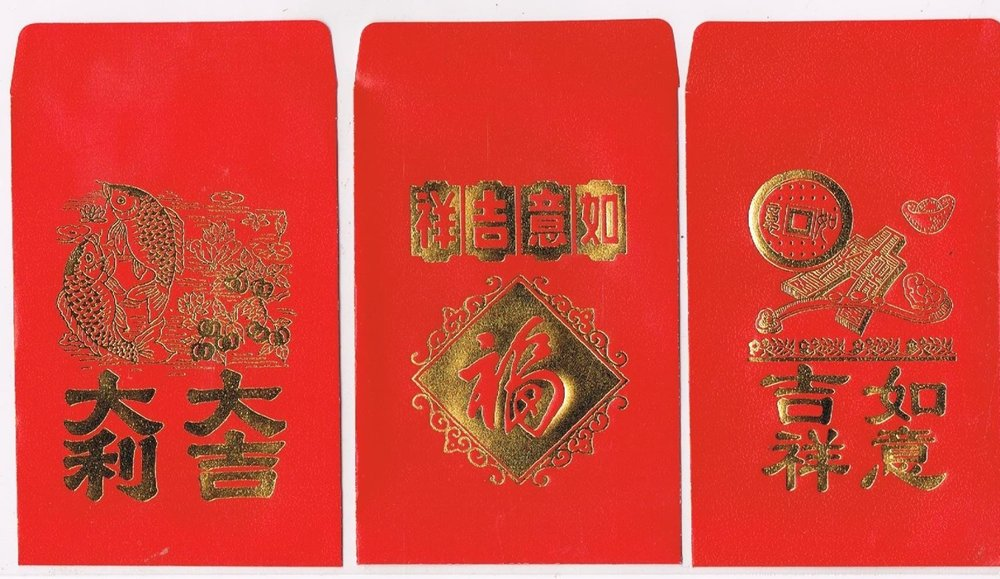 Envelopes in three designs