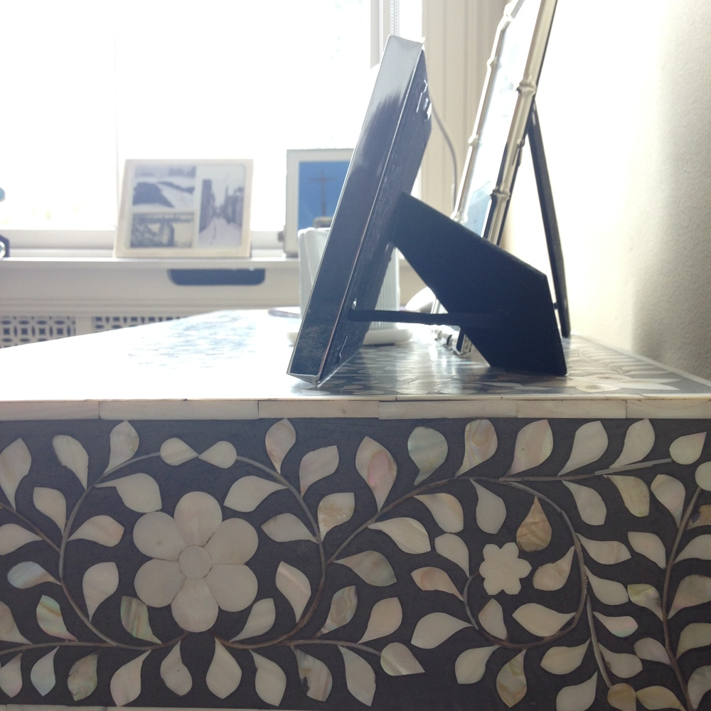 Mother of Pearl Inlay desk | Graham & Green | Laughing Heart