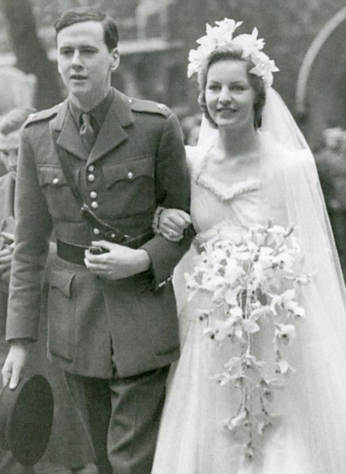 On their wedding day