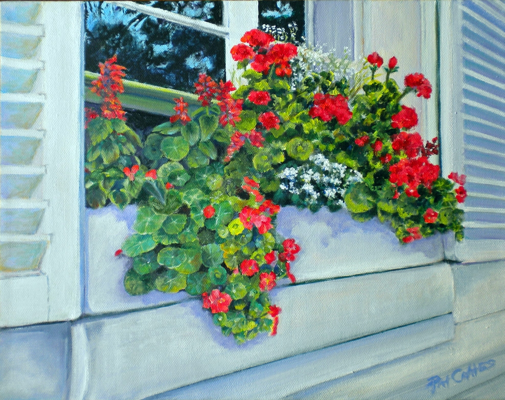Geraniums in Windowbox