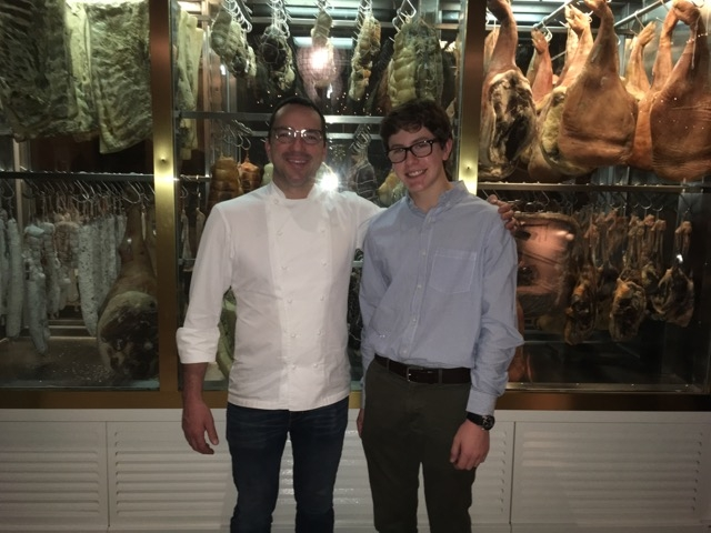 Chef Steve McHugh with President of K4K, Isaac Goldstone