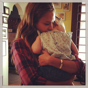 Jessica Alba with her little angel