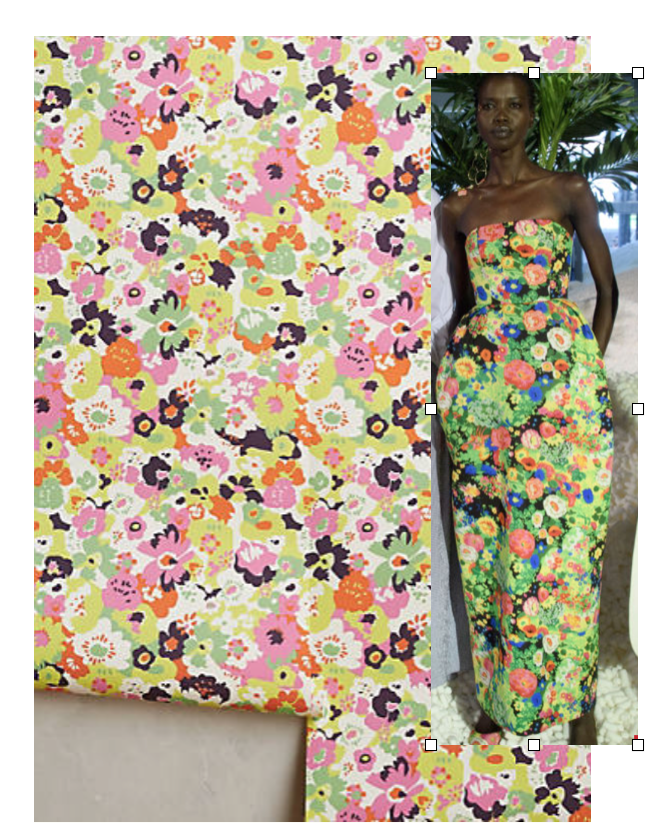 Anthropologie Wallaper, Rosie Assoulin Dress: Another moment of fabulous florals!