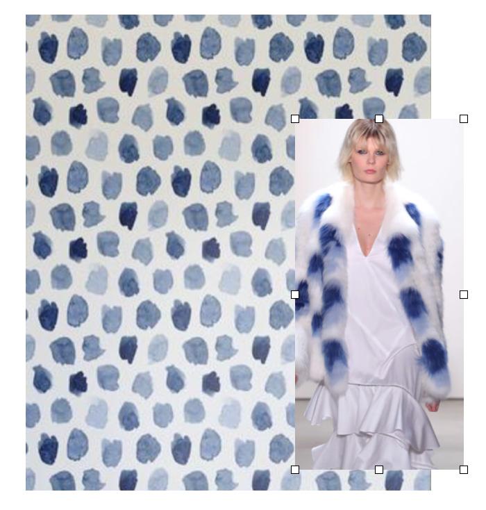 Walls Need Love Wallpaper, Prabal Gurung Jacket: Any shade of blue was also a big hit this season on the runway.