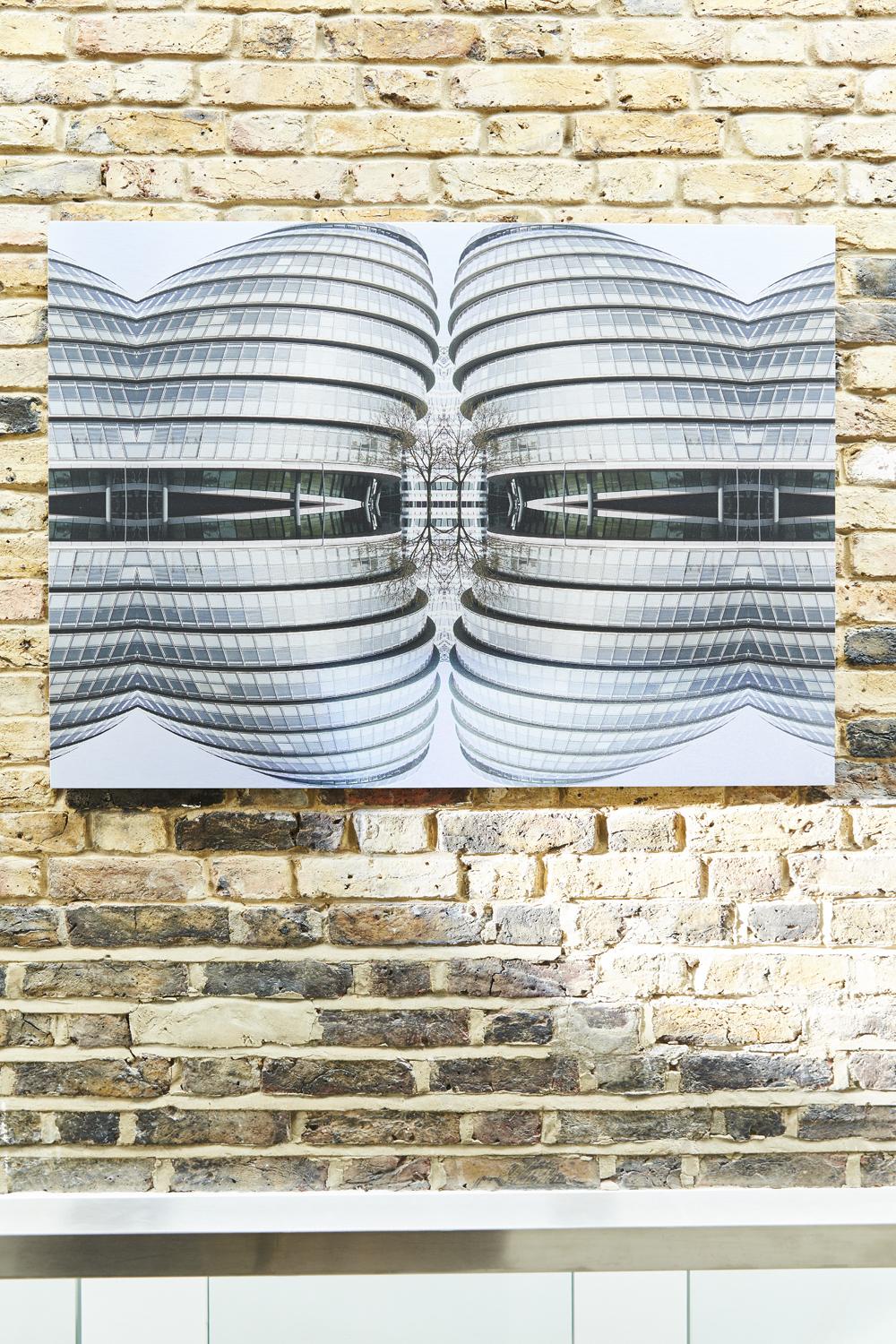 GLA Strong and sculptural - An incredible building in it's own right - I was asked to design a picture using the City Hall for a lady who was looking for a picture as a special gift for her husband's anniversary present as he had been involved in it's construction.