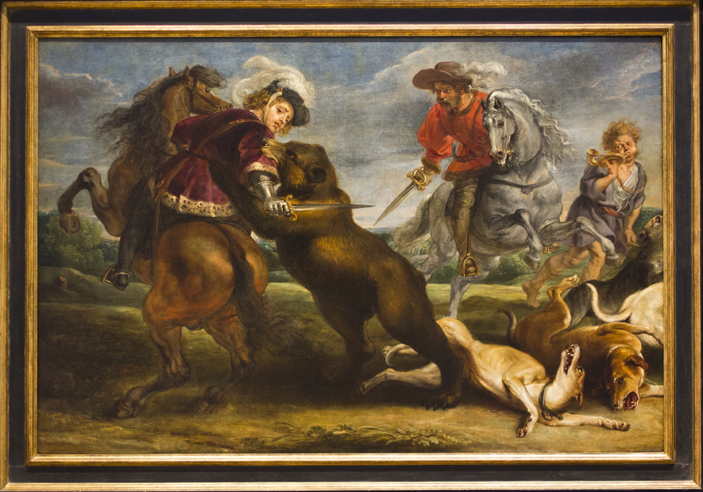 Oil painting by Rubens photographed for the opening credit sequence.