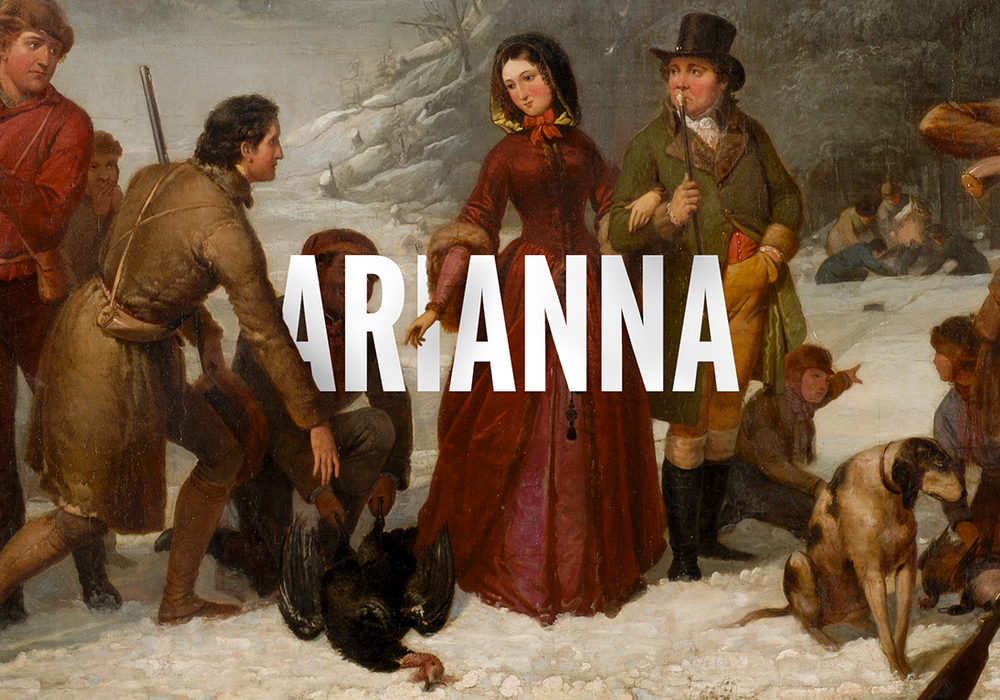 Oil painting by T.H. Matteson for Arianna's title plate.