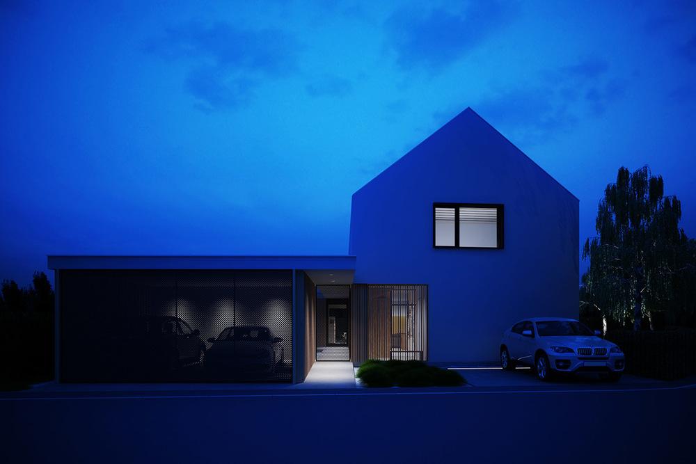 vizualizacija pasivne hiše Lumar