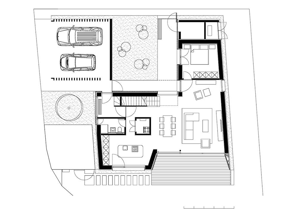 Tloris pritličja aktivne hiše Lumar
