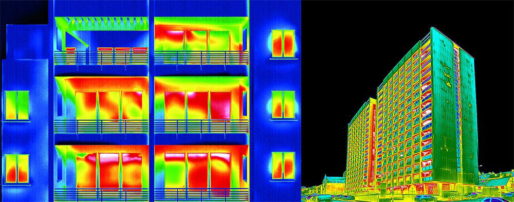 termovizija - posnetek objekta z infrardečo kamero