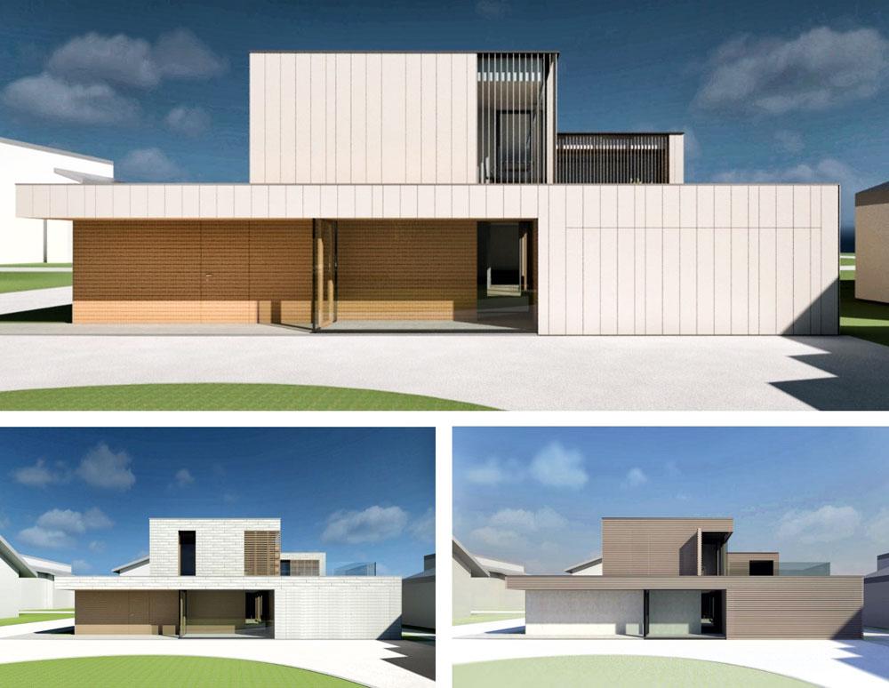 IDZ - Vizualizacija variantnih rešitev fasade stanovanjske hiše
