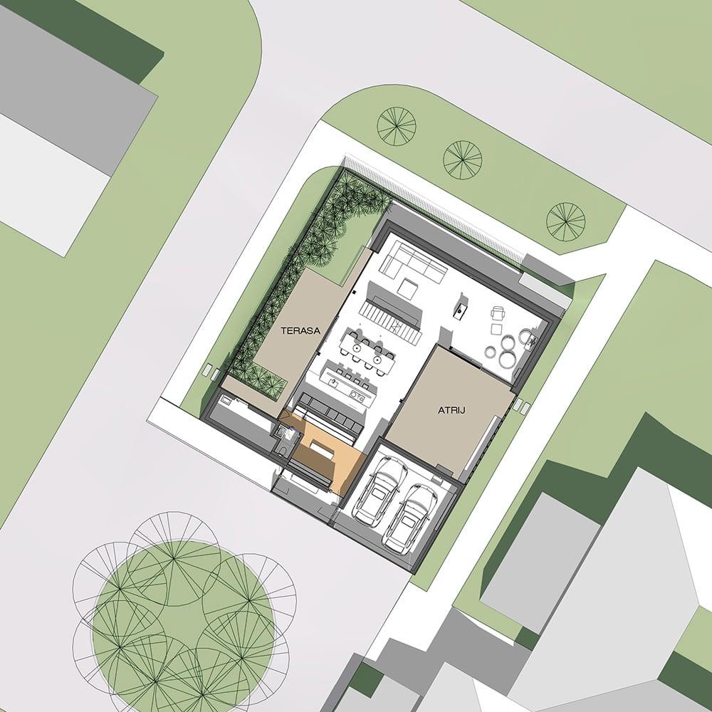 Umestitev hiše v prostor